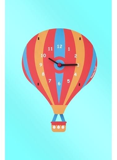 Peoples Clock Uçan balon Sallanan Sarkaçlı Çocuk Odası Duvar Saati Renkli